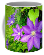 Brilliant Blue Clematis Coffee Mug