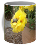 Brilliant Rose Flower With Buzzy Bee Coffee Mug