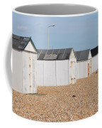 British Beach Huts In Sussex Coffee Mug