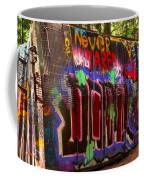 British Columbia Train Wreck Graffiti Coffee Mug