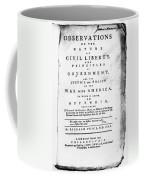 British Pamphlet, 1776 Coffee Mug