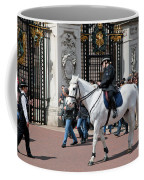 British Royal Guards Perform The Changing Of The Guard In Buckingham Palace Coffee Mug
