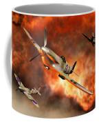British Supermarine Spitfires Bursting Coffee Mug