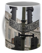 Broad Street And Meeting Street Charleston South Carolina Coffee Mug