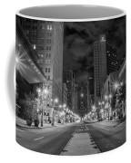 Broad Street At Night In Black And White Coffee Mug