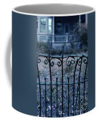 Broken Iron Fence By Old House Coffee Mug