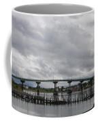 Broken Jetty And Franklin Roosevelt Memorial Bridge   Coffee Mug