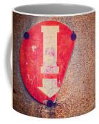 Broken Round Sign With Arrow Coffee Mug