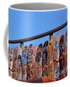 Broken Skateboard Fence Coffee Mug