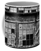 Broken Windows In Black And White Coffee Mug by Paul Ward