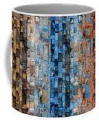 Bronze Blue Wall Coffee Mug
