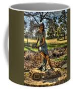 Bronze Girl At Woodward Park Coffee Mug