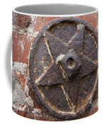 Bronze Star Attached To Brick Coffee Mug