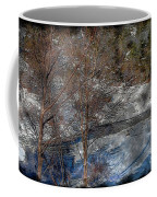 Brook And Bare Trees - Winter - Steel Engraving Coffee Mug