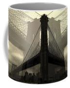 Brooklyn Bridge Abstract Coffee Mug