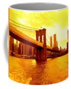 Brooklyn Bridge In Yellow Coffee Mug