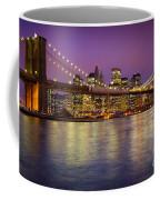 Brooklyn Bridge Coffee Mug by Inge Johnsson