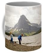 Brother And Sister Playing Near A Lake Coffee Mug