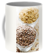 Brown And Golden Flax Seed Coffee Mug