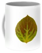Brown And Green Aspen Leaf 4 Coffee Mug
