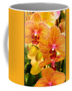 Smiling Brown And Pink Orchids Coffee Mug