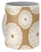Brown And White Floral Coffee Mug by Linda Woods