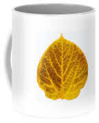 Brown And Yellow Aspen Leaf 2 Coffee Mug