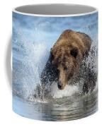 Brown Bear, Ursus Arctos, Fishing Coffee Mug