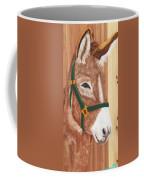 Brown Donkey On Cedar Coffee Mug
