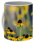 Brown Eyed Susans On Yellow And Green Coffee Mug
