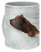 Brown Grizzly Bear Swimming  Coffee Mug