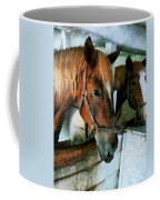 Brown Horse In Stall Coffee Mug