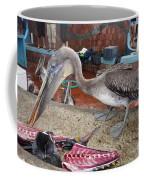 Brown Pelican At The Fish Market Coffee Mug