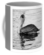 Brown Pelican - Black And White Coffee Mug