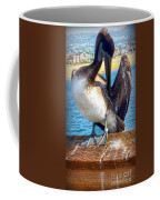Brown Pelican Preen  Coffee Mug