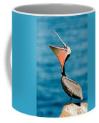 Brown Pelican Showing Pouch Coffee Mug