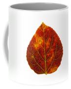Brown Red And Yellow Aspen Leaf 1 Coffee Mug