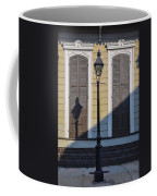 Brown Shutter Doors And Street Lamp - New Orleans Coffee Mug