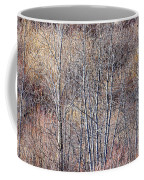 Brown Winter Forest With Bare Trees Coffee Mug