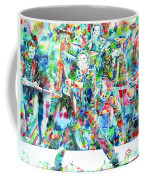 Bruce Springsteen And The E Street Band - Watercolor Portrait Coffee Mug