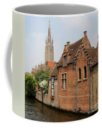 Bruges Houses With Bell Tower Coffee Mug by Carol Groenen