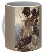 Brunnhilde From The Rhinegold And The Valkyrie Coffee Mug by Arthur Rackham