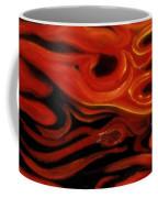 Brush Strokes In Red Coffee Mug