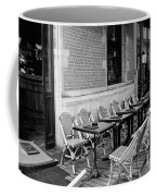 Brussels Cafe In Black And White Coffee Mug by Carol Groenen
