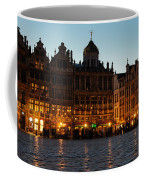 Brussels - Grand Place Facades Golden Glow Coffee Mug