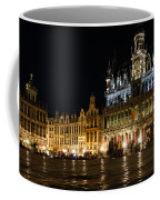 Brussels - The Magnificent Grand Place At Night Coffee Mug
