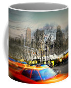 Bryant Park Taxi Coffee Mug by Diana Angstadt