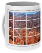Bryce Canyon White Picture Window View Coffee Mug