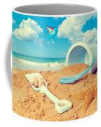 Bucket And Spade On Beach Coffee Mug by Amanda Elwell