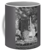 Buckingham Fountain Sears Tower Black And White Coffee Mug